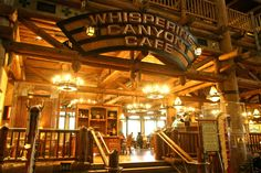 Whispering Canyon - Wilderness Lodge - Quaint lodge atmosphere, good food! All you can eat skillet dinners. American