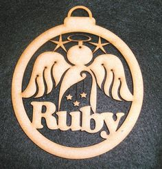 Personalised MDF ANGEL Name Bauble. Cut in 3mm Premium Medite MDF. Only one name per Bauble. We can fit most names on, However the longer the name the smaller the font. We hope you are 100% happy with your product and service you receive. | eBay!