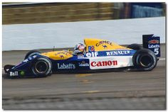 Nigel Mansell Williams Renault FW14B F1. 1992 British GP Test Silverstone.
