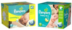 Get Pampers Diapers as low as $0.08 per diaper, shipped!