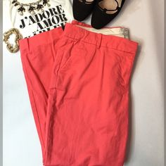 "J CREW Coral Stretch Cafe Capris J CREW Coral Stretch Cafe Capris Gorgeous coral hue, amazing comfort and classic style Very gently worn, like new Size 14 Waist 19"" across, 25"" inseam, rise 10"" 98% cotton, 2% spandex  REASONABLE OFFERS CONSIDERED Create a bundle for 15% off! Thanks for looking✌️❌NO PAYPAL❌NO TRADES❌ J. Crew Pants Capris"
