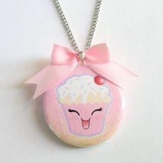 Cupcake Kawaii Necklace