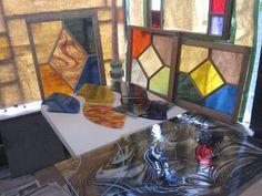 Pre frame glass cutting 2014 Toronto