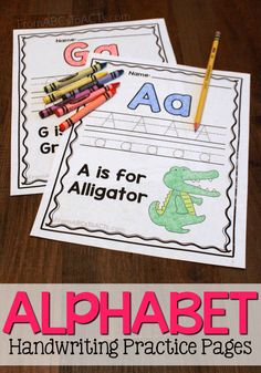 Practice the letters of the alphabet from A to Z with these simple letter practice pages for preschoolers!