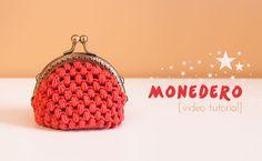 Patrones Crochet, Manualidades y Reciclado: COMO HACER MONEDERO CON BOQUILLA PASO A PASO CON V...