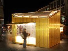 Golden Christmas Market Stalls, GermanyPhotos: Joern Simonsen/ ARCHTM Ingenieure