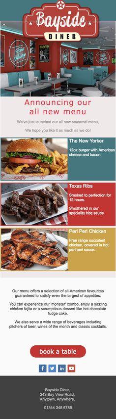 Peri Peri Chicken, American Cheese, New Menu, The New Yorker, Email Marketing, Template, Design, Vorlage