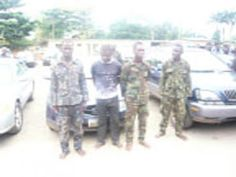 Lagos Police Arrest Fake Soldiers Who Threatened To Blow Up Command Headquarters (PHOTO)