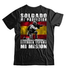 Camiseta Soldado Español. – Esto es Espana Unisex, Mens Tops, T Shirt, Fashion, Spain Flag, Patriots, Crew Neck, Parts Of The Mass, Military