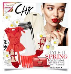 """Spring chic"" by lidia-solymosi ❤ liked on Polyvore featuring KAROLINA, Donna Karan, Oscar de la Renta, Alexis and Alexandre Birman"