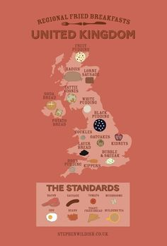 An  infographic charting British breakfast differences