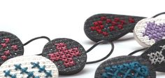 earrings to embroider yourself - made of silver