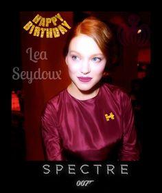 #HappyBirthday 2 #007 #BondGirl #LeaSeydoux #Spectre #FF #FashionPolice #Hillary2016 #RogueNation #NASA #Soyuz #Moon