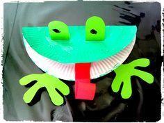 bricolage enfant, grenouille, assiette en carton