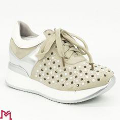 Pantofi Sport cu Platforma M8XX1650-20 White Fashion&Bella
