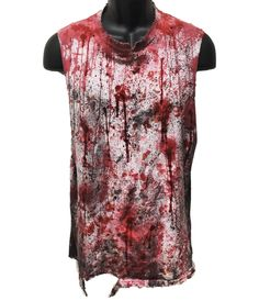 Blood stained sleeveless tee's from ChadCherryClothing.