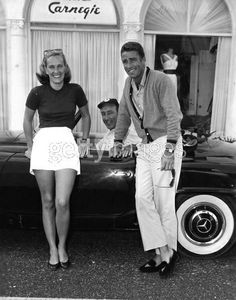 Peter Lawford with Mrs. Daniel Topping and Edward B. McLean Jr. on Worth Avenue in 1958.