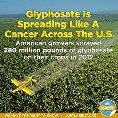 Glyphosate Is Spreading Like A Cancer Across The U.S.