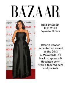 Wearing Houghtonnyc Best Dressed 2013 ALMA Awards Rosario Dawson