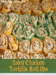 Spicy Chicken Tortilla Roll-Ups ~ a great appetizer full of amazing flavors and are perfect for any party, including Cinco de Mayo.