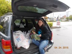 Jennean Getting Hampers for Delivery to our Clients Langley