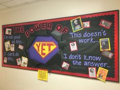 What an amazing bulletin board display! The power of YET!