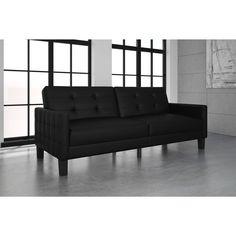 DHP Miller Futon (Futon, black faux leather), Size Full