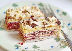 Wonderfully layered, crispy Jam-filled Hungarian Pastry Bars. #pastry #jam #bars #fruit #food #Hungarian #dessert