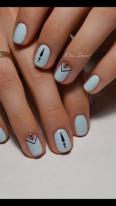 60 Stylish Nail Designs for 201 n Nail art is another huge fashion trend besides the stylish hairstyle, clothes and elegant makeup for women. Nowadays, there are many ways to have beautiful nails with bright colors, different patterns and styles. Elegant Nails, Stylish Nails, Trendy Nails, Elegant Makeup, Nagellack Design, Nagellack Trends, Cute Easy Nail Designs, Nail Art Designs, Nails Design