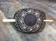 Items similar to Aztec face hand carved leather hair barrette- hair accessories - Stick Barrette - Hair Slide - Haarspange aus Leder on Etsy Leather Carving, Leather Tooling, Etsy Handmade, Handmade Gifts, Hair Slide, Leather Keychain, Hair Sticks, Hair Barrettes, Celtic Knot