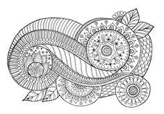 Floral Element Doodle - Doodle is Art