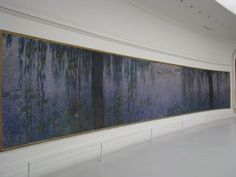 Musee de l'Orangerie, Paris, France. The water lily paintings here by Claude Monet are amazing. I pretty much wept the whole time we looked at them. I hadn't realized they were so huge! The other impressionist works I had seen before were quite small (a suprise for me at the time.) Photo by Andrea779. http://en.wikipedia.org/wiki/Water_Lilies
