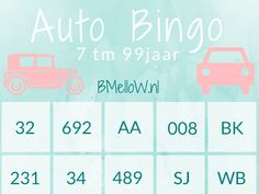 auto bingo vanaf 6 jaar BMelloW.nl