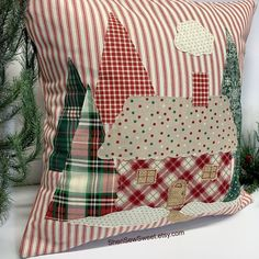 what backpack diaper bags to buy Christmas Sewing, Plaid Christmas, Christmas Items, Christmas Tree, Xmas, Christmas Cushions, Christmas Pillow Covers, Christmas Cover, Cabin Christmas Decor