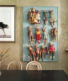 Wall of Sock Monkeys!