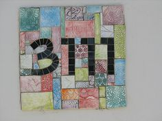 Great mosaic idea for a house number