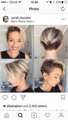 Long-Blonde-Pixie-Hair- - Peinados y pelo 2017 para hombre y mujeres Long Pixie Cuts, Short Hair Cuts, Short Hair Styles, Short Pixie, Asymmetrical Pixie, Short Bobs, Pixie Bob, Short Layers, Edgy Pixie Hair