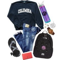 school is almost over!!!! by southernprepstar on Polyvore featuring Columbia, Dsquared2, Chaco, The North Face, Tory Burch, MICHAEL Michael Kors and CamelBak