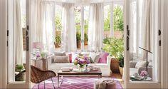Trucos de estilista para renovar el salón con el color rosa como protagonista