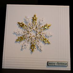Memory Box Snowflake Die - Really like the scoring on this card (might use a…