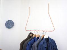 Kleiderschränke - Copper Cloth Hanger - ein Designerstück von Calvill bei DaWanda