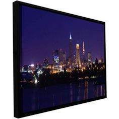 Cody York Cleveland 16 inch Floater-Framed Gallery-Wrapped Canvas, Size: 24 x 48, Brown