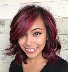 Brown Hair With Pink Balayage