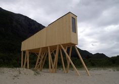 Shelters by Rintala Eggertsson Architects.  Complete 2014.  Sandhornoya, No.