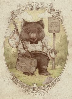 animals doing people things by Teagan White, via Behance