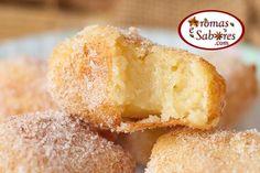 Receita de leche frita - leite frito - Cozinha espanhola - Hoje tem um doce diferente e gostoso no blog.