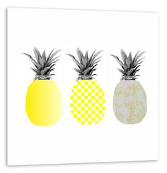 Ananas Alu-Print von ArtboxOne