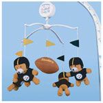 Yep... our kids are gonna be Steeler fans!!! Forget the Jets!! :) NFL Pittsburgh Steelers baby mobile.