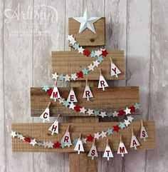 DIY Christmas Star using Stampin' Up! Festival of Trees stamps and sticky notes