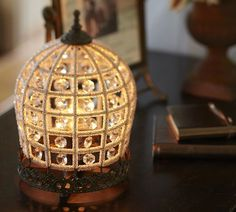 Dalila Beaded Crystal Accent Lamp   Pottery Barn $79